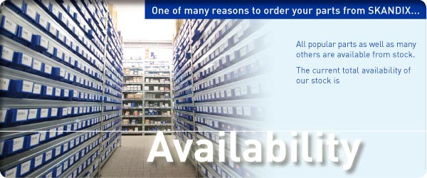 One of many reasons to order your parts from SKANDIX ... Availability