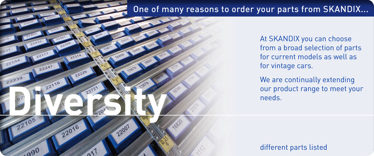 One of many reasons to order your parts from SKANDIX ... Diversity